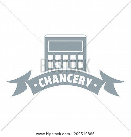 Calculator stationery logo. Simple illustration of calculator stationery vector logo for web