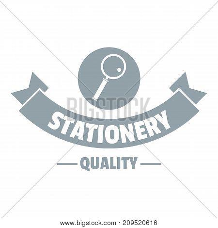 Magnifier stationery logo. Simple illustration of magnifier stationery vector logo for web