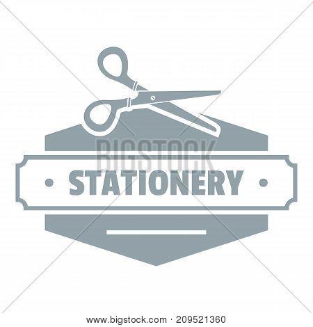 Scissors stationery logo. Simple illustration of scissors stationery vector logo for web