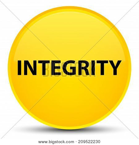 Integrity Special Yellow Round Button