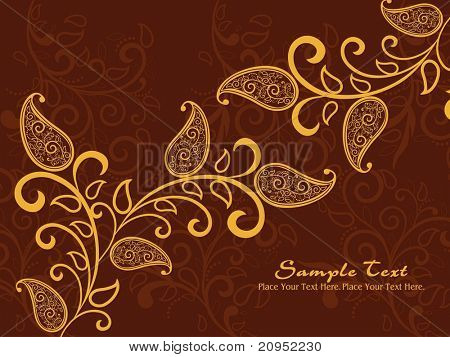 abstract brown artwork background with creative pattern