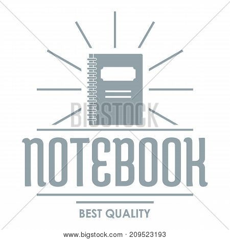 Notebook logo. Simple illustration of notebook vector logo for web