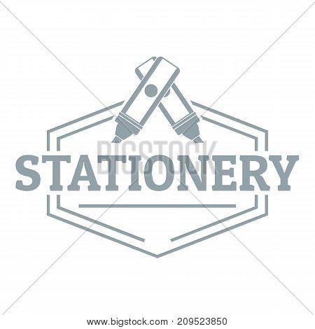 Stationery logo. Simple illustration of stationery vector logo for web