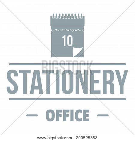 Office stationery logo. Simple illustration of office stationery vector logo for web
