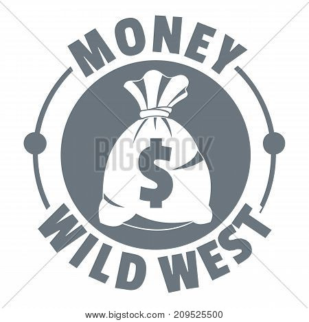 Money wild west logo. Vintage illustration of money wild west vector logo for web