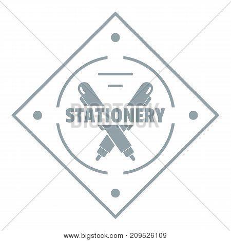 Creativity stationery logo. Simple illustration of creativity stationery vector logo for web
