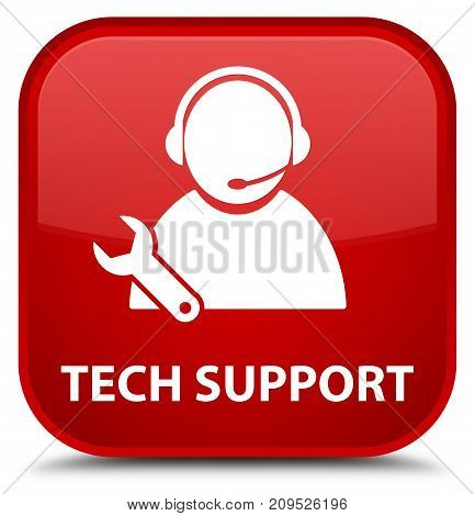 Tech Support Special Red Square Button