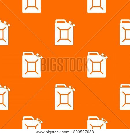 Fuel jerrycan pattern repeat seamless in orange color for any design. Vector geometric illustration
