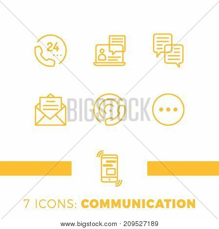 Linear Communication Icons Set. Universal Communication Icon To Use In Web And Mobile Ui, Communicat
