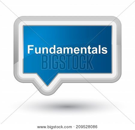 Fundamentals Prime Blue Banner Button
