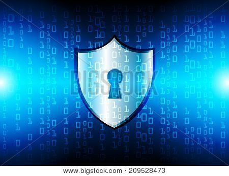 Cyber Security Data Protection Business Technology Privacy concept key lock and binary technology background abstract technology concept background vector illustration.