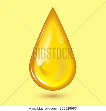 Orange honey drops and yellow splashes healthy syrup golden food liquid drip vector illustration. Sweet golden flowing dessert splash droplet delicious.