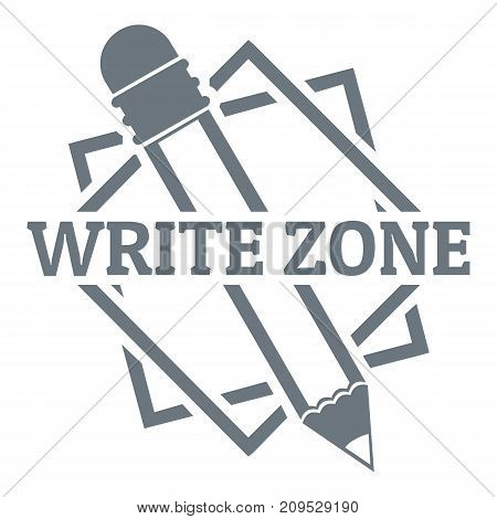 Write zone logo. Vintage illustration of write zone vector logo for web