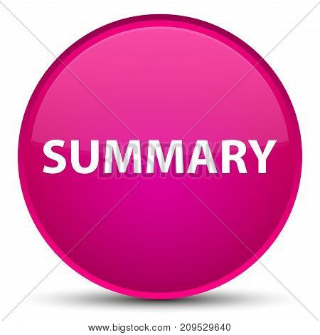 Summary Special Pink Round Button