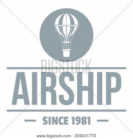 Air ship logo. Simple illustration of air ship vector logo for web