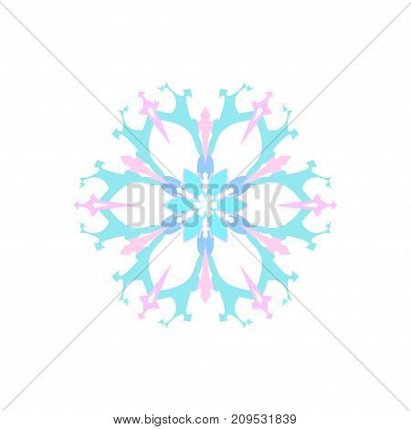 Snowflake Isolated on White Background Merry Christmas and Happy New Year Christmas Decoration