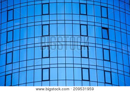 Windows with the skies background abstract design