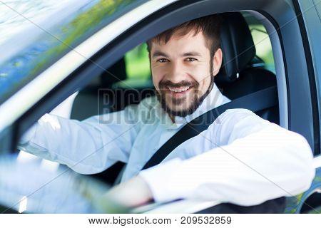 Smiling man car buying car expensive luxury retail