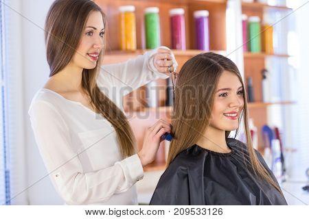 Hair cut haircut scissor design beautiful customer