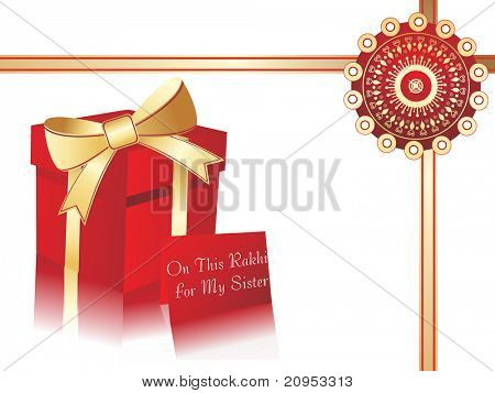 celebration background with gift box for sister
