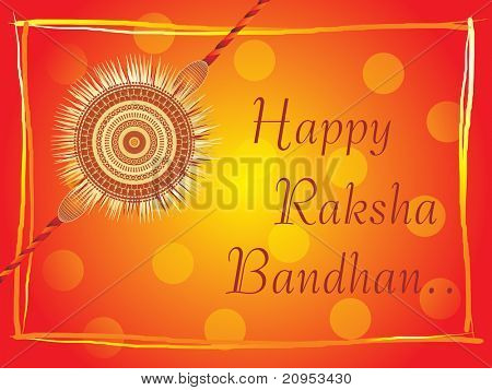rakshabandhan background with isolated rakhi