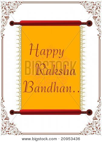 happy rakshabandhan letterpad with creative border background