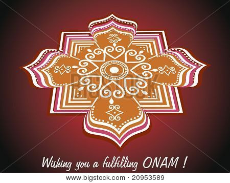 abstract background for onam celebration poster