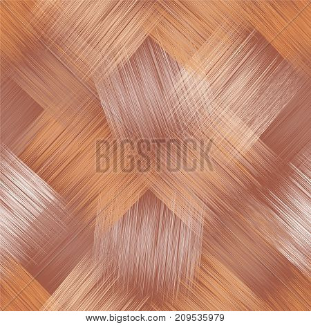 Seamless diagonal pattern with grunge striped square elements in beigebrownwhite colors for web design