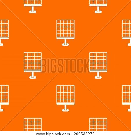 Solar panel pattern repeat seamless in orange color for any design. Vector geometric illustration