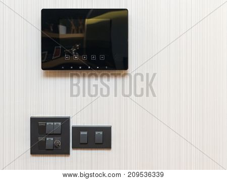 video door phone with electrical switch on wall