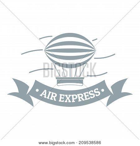 Vintage dirigible logo. Simple illustration of vintage dirigible vector logo for web