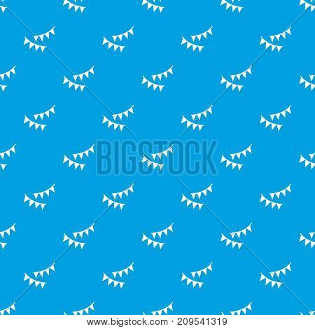 Holiday flags pattern repeat seamless in blue color for any design. Vector geometric illustration