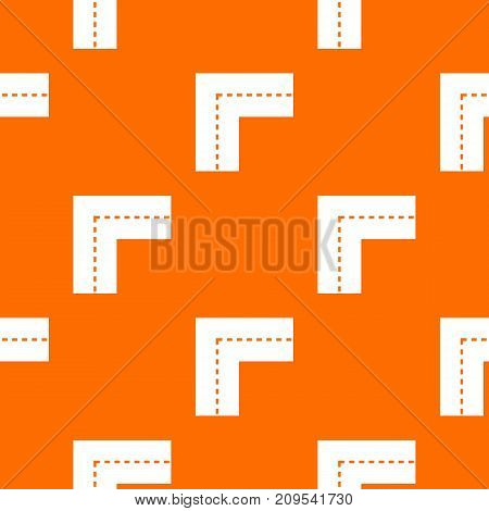 Turning road pattern repeat seamless in orange color for any design. Vector geometric illustration