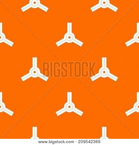 Roundabout pattern repeat seamless in orange color for any design. Vector geometric illustration