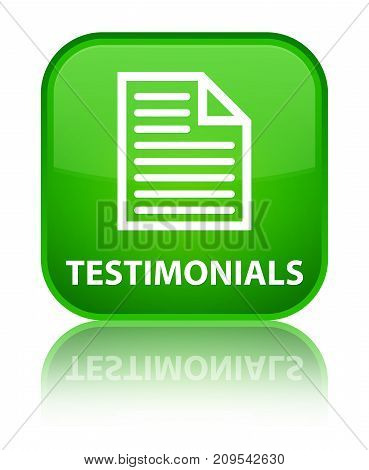 Testimonials (page Icon) Special Green Square Button