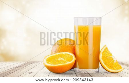 Glass orange delicious juice natural food eating healthy table