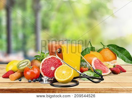 Fresh vegetables juice fruits healthy lifestyle eating healthy organic food