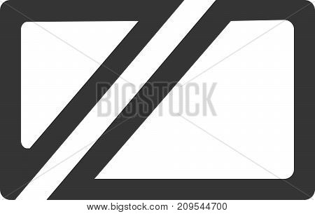 Cut Rectangle Logo - Blank Business Card. Outline Line Rounded Rectangle as Template, Sign or Design Element. New Project, Template or Promotion Icon. Minimalist Separated Style Object. Floor Mat or Wall Piece Decor and Decoration. Passively Edgy.