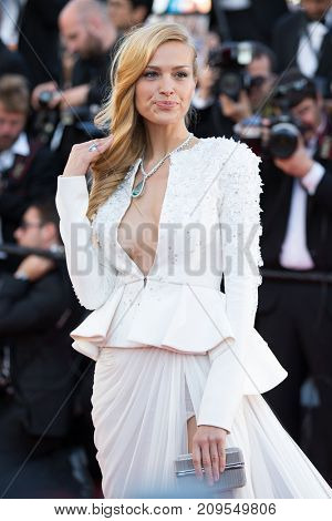 CANNES, FRANCE - MAY 20, 2015: Petra Nemcova attends the 'Youth' premiere. 68th annual Cannes Film Festival at the Palais des Festivals