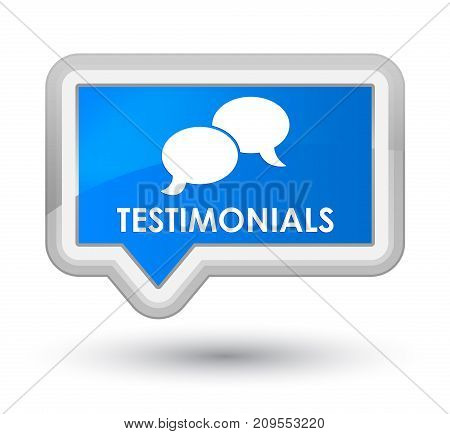 Testimonials (chat Icon) Prime Cyan Blue Banner Button