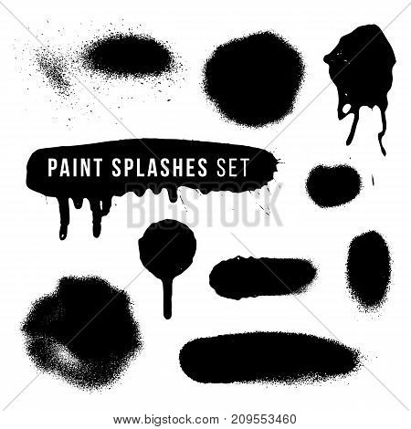Vector Spray Paint Splatter Texture.