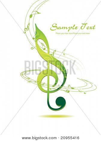 abstract musical background, vector illustration