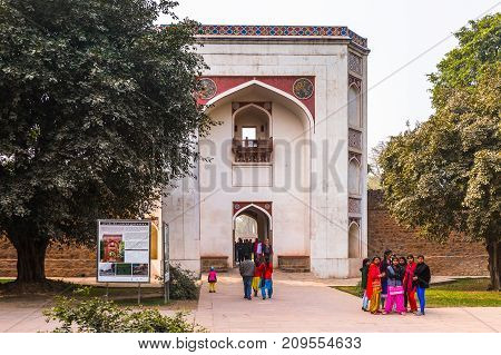 Humayun's Tomb Complex,the Tomb Of The Mughal Emperor Humayun In Delhi, India.