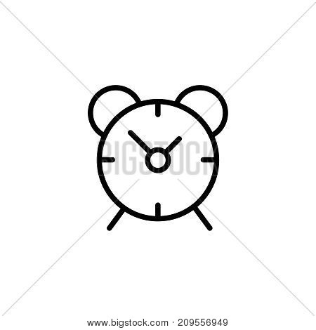 Clock flat icon. Single high quality outline symbol of graduation for web design or mobile app. Thin line signs of education for design logo, visit card, etc. Outline logo of school