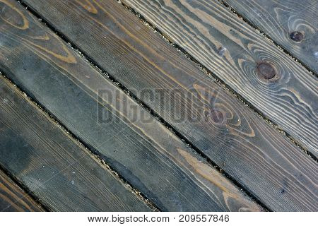 Rustic Wooden Flooring Texture Background Of Natural Colors, Diagonal Stripes