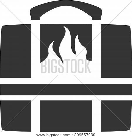 Hot Food Catering Bag - Flame Hot Fresh. Meal, Picnic, Lunching, Potluck, Dinner, Professional Cater / Caterer, Restaurant Delivery Supply / Supplies Sign, Logo or Label. Deliver Option Icon for Web Ordering Application. Insulated Heat Bag with Handle.