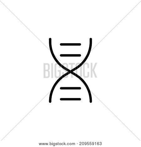 DNA flat icon. Single high quality outline symbol of graduation for web design or mobile app. Thin line signs of education for design logo, visit card, etc. Outline logo of school