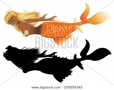 Gold Fish Tail Mermaid