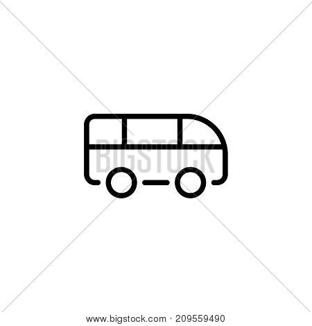 Bus flat icon. Single high quality outline symbol of graduation for web design or mobile app. Thin line signs of education for design logo, visit card, etc. Outline logo of school