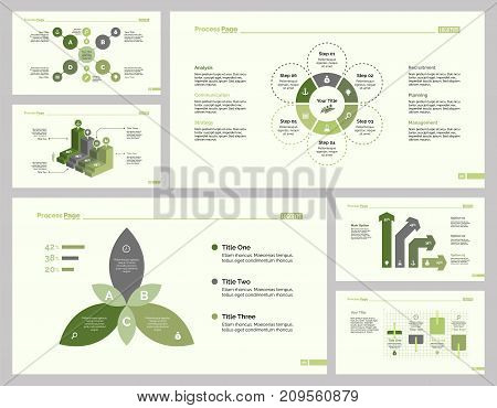 Infographic design set can be used for workflow layout, diagram, annual report, presentation, web design. Business and finance concept with process, bar, flow, doughnut, option and percentage charts.